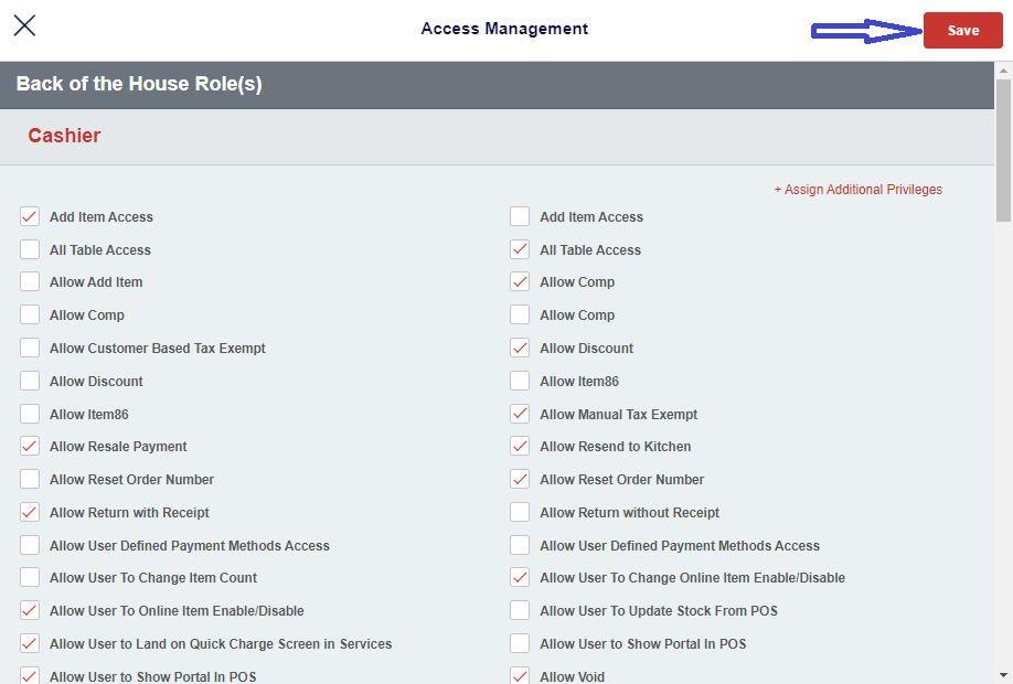 Employee based privileges - Access Management